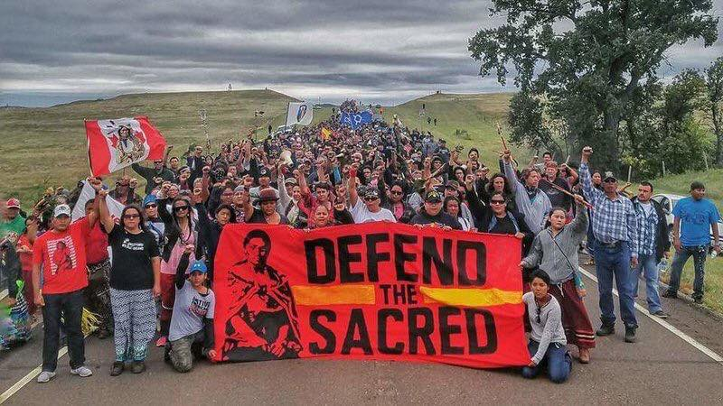 Standing Rock Pipeline Protest - October 27th Treaty Camp  Frontlines - North Dakota Frontlines